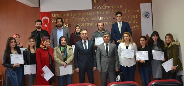 Girişimcilik Kursu Katılımcıları Sertifikalarına Kavuştu