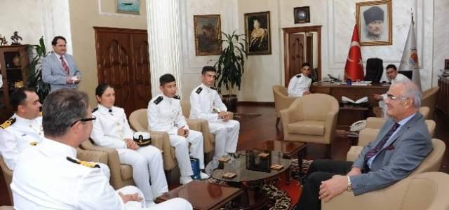 Komutanlar Başkan Yılmaz'ı Ziyaret Etti
