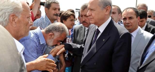 Mhp Lideri Bahçeli Kayseri'ye Geldi