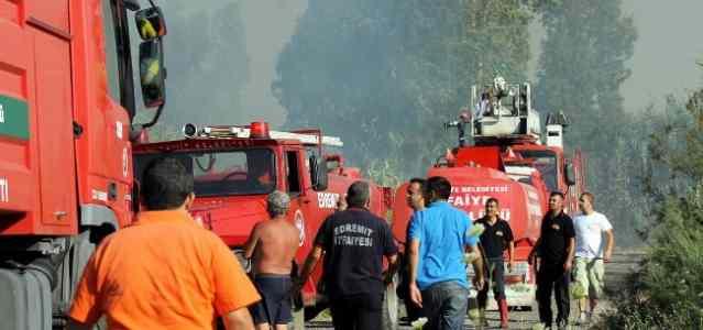 Tatil Beldesindeki Yangın Korkuttu