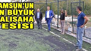 19 Mayıs İlçesine Samsun'un En Büyük Halısaha Tesisi