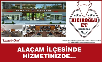 Kıcıroğlu Et Restoran Alaçam'da Hizmete Açıldı
