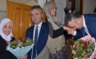 Başkan Topaloğlu, Şehit Aileleriyle Bayramlaştı