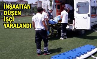 İnşaatın İkinci Katından Düşen İşçi Yaralandı