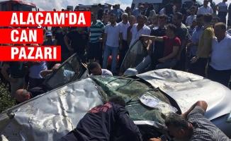 Alaçam İlçesinde Trafik Kazası; 3 Ölü, 2 Yaralı