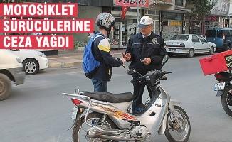 Bafra'da Motosiklet Sürücülerine Ceza Yağdı