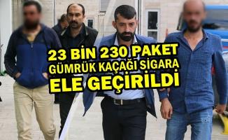 Samsun'da 23 Bin 230 Paket Kaçak Sigara Ele Geçirildi