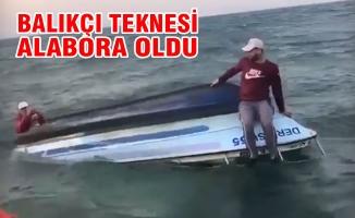 Samsun'da Balıkçı Teknesi Alabora Oldu; 3 Kişi Kurtarıldı