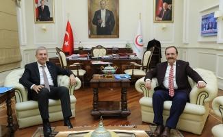 Başkan Şahin; Sağlık Bakanı Demircan'ı Ziyaret Etti