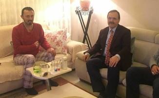 Başkan Şahin'den Gazeteci İbrahim Ünlü'ye Ziyaret