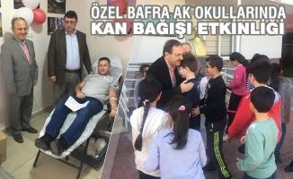 Özel Bafra AK Okulları'nda Kan Bağışı Etkinliği