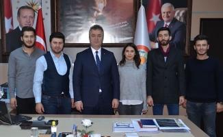 Üniversite Öğrencilerinden Başkan Topaloğlu'na Ziyaret