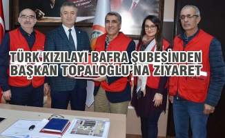 Türk Kızılayı Bafra Şubesinden Başkan Topaloğlu'na Ziyaret