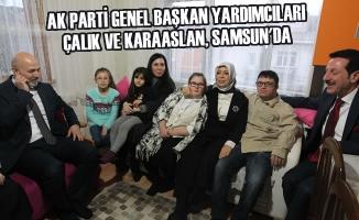 AK Parti Genel Başkan Yardımcıları Çalık ve Karaaslan, Samsun'da