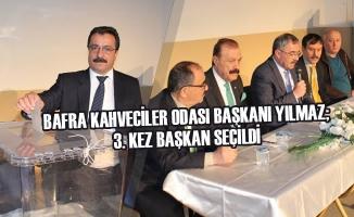 Bafra Kahveciler Odası Başkanı Yılmaz; 3. Kez Başkan Seçildi