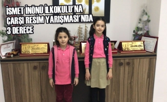 İsmet İnönü İlkokulu'na Çarşı Resim Yarışması'nda 3 Derece