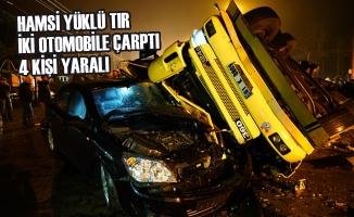 Samsun'da Tır İki Otomobile Çarptı: 4 Yaralı