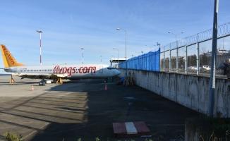 Trabzon Havalimanı'nda uçağın pistten çıkması