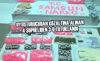 Uyuşturucudan Gözaltına Alınan 4 Şüpheliden 3'ü Tutuklandı