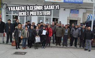 Yakakent İlçesinde SASKİ'ye Ücret Protestosu