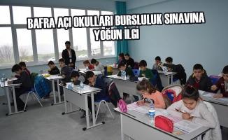 Bafra Açı Okulları Bursluluk Sınavına Yoğun İlgi