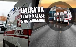 Bafra'da Trafik Kazası; 5 kişi Yaralandı