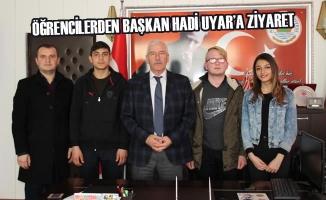 Öğrencilerden Başkan Hadi Uyar'a Ziyaret