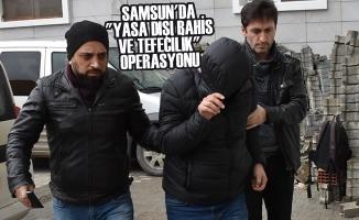 """Samsun'da """"Yasa Dışı Bahis ve Tefecilik"""" Operasyonu; 20 Gözaltı"""