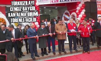 TürkKızılayı Cengiz Baygül Kan Alma Birimi Törenle Açıldı