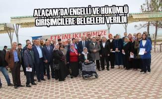 Alaçam'da Engelli ve Hükümlü Girişimcilere Belgeleri Verildi