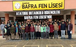 Atatürk Ortaokulu Öğrencileri Bafra Fen Lisesi'nde