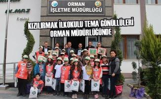 Kızılırmak İlkokulu Tema Gönüllüleri Orman Müdürlüğünde