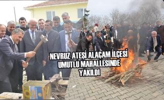 Nevruz Ateşi Alaçam İlçesi Umutlu Mahallesinde Yakıldı