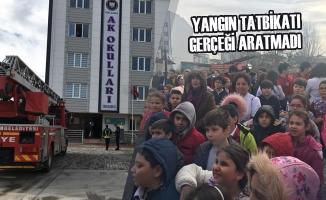Özel Bafra AK Okulları'nda Yapılan Tatbikat Gerçeği Aratmadı