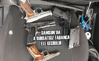 Samsun'da 4 Ruhsatsız Tabanca Ele Geçirildi