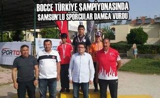 Bocce Türkiye Şampiyonasında Samsun'lu Sporcular Damga Vurdu