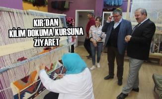 Kır'dan Kilim Dokuma Kursuna Ziyaret