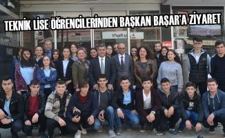 Teknik Lise Öğrencilerinden Başkan Başar'a Ziyaret