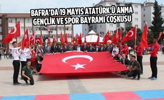 Bafra'da 19 Mayıs Atatürk'ü Anma Gençlik ve Spor Bayramı Coşkusu