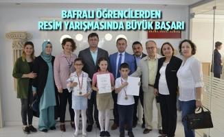 Bafralı Öğrencilerden Resim Yarışmasında Büyük Başarı