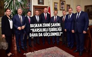 Başkan Zihni Şahin, Rus Heyeti Ağırladı