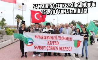 Samsun'da Çerkez Sürgününün 154. Yılı Anma Etkinliği
