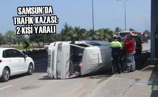 Samsun'da Trafik Kazası: 2 Kişi Yaralı