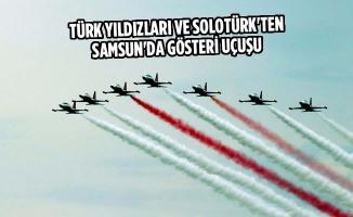 Türk Yıldızları ve SOLOTÜRK'ten Samsun'da Gösteri Uçuşu