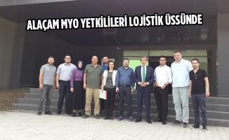 Alaçam MYO Yetkilileri Lojistik Üssünde