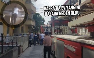 Bafra'da Ev Yangını Hasara Neden Oldu