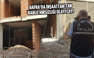 Bafra'da İnşaattan Kablo Hırsızlığı Olayı