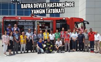 Bafra Devlet Hastanesinde Yangın Tatbikatı