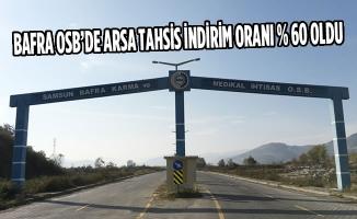 Bafra Karma ve Medikal İhtisas OSB'de Kısmı Bedelli Arsa Tahsisi