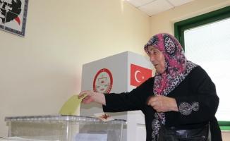 Gümrük kapılarında oy verme işlemi